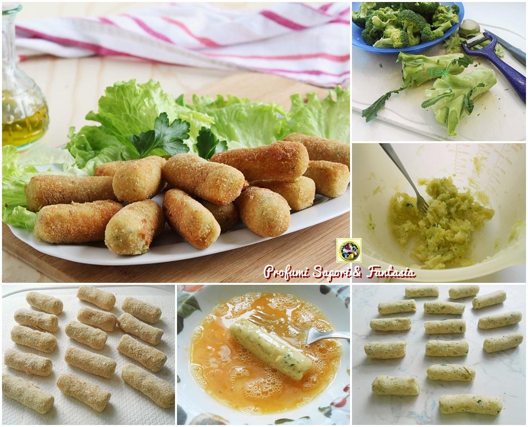 Crocchette con gambi di broccoli e patate