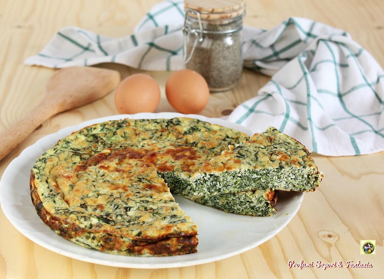 Frittata con ricotta e spinaci al forno