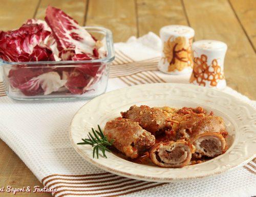 Involtini con salsiccia piccante e provola