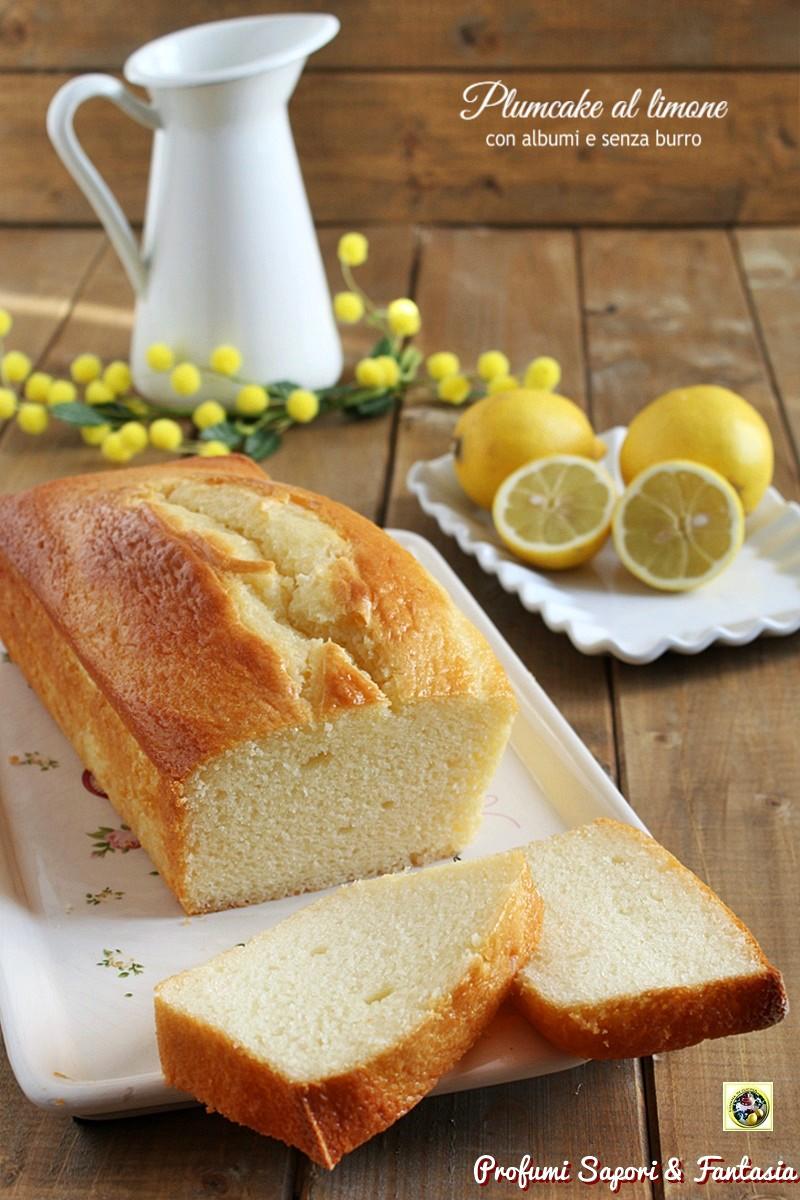 Plumcake al limone con albumi
