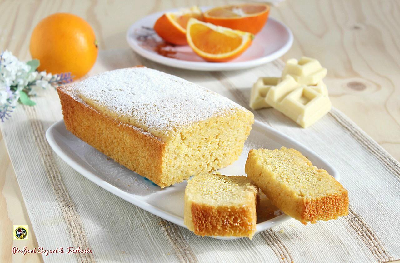 Plumcake con arancia e cioccolato bianco