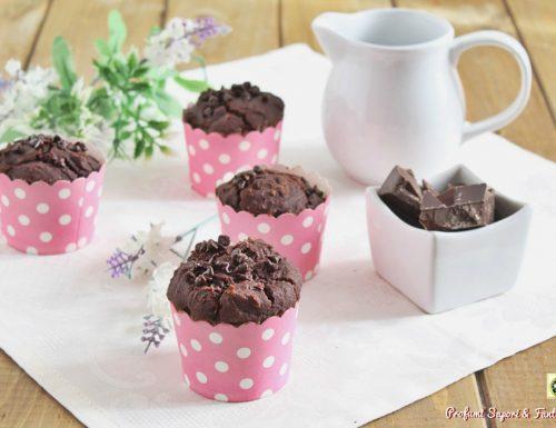 Muffin al cioccolato senza burro e senza uova