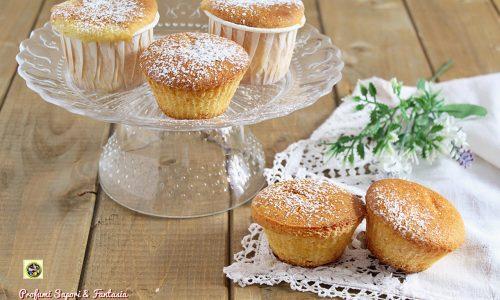 Muffin con panna e latte condensato