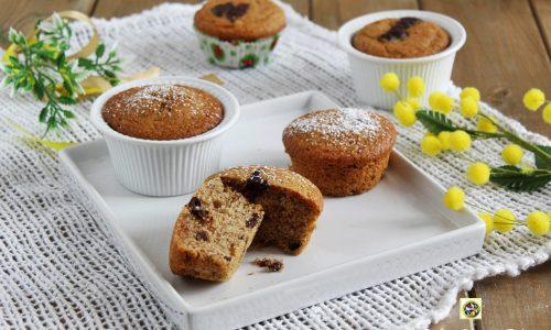 Muffin integrali con cioccolato senza burro