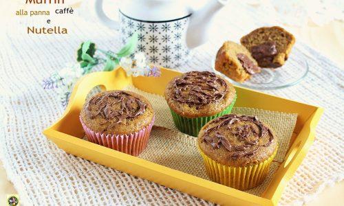 Muffin alla panna caffe' e Nutella
