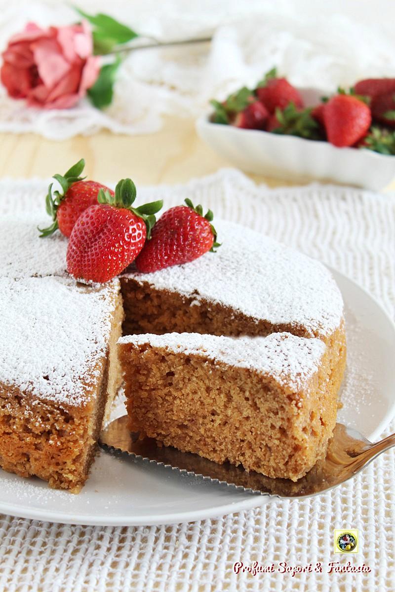 Torta con fragole frullate