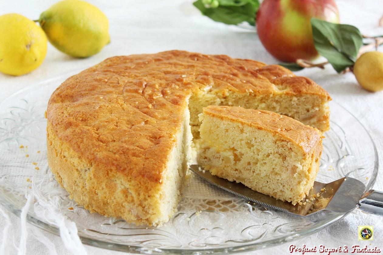 Torta di mele al profumo di limone e cannella