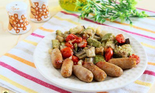 Salsiccia di coniglio con fricò di verdure