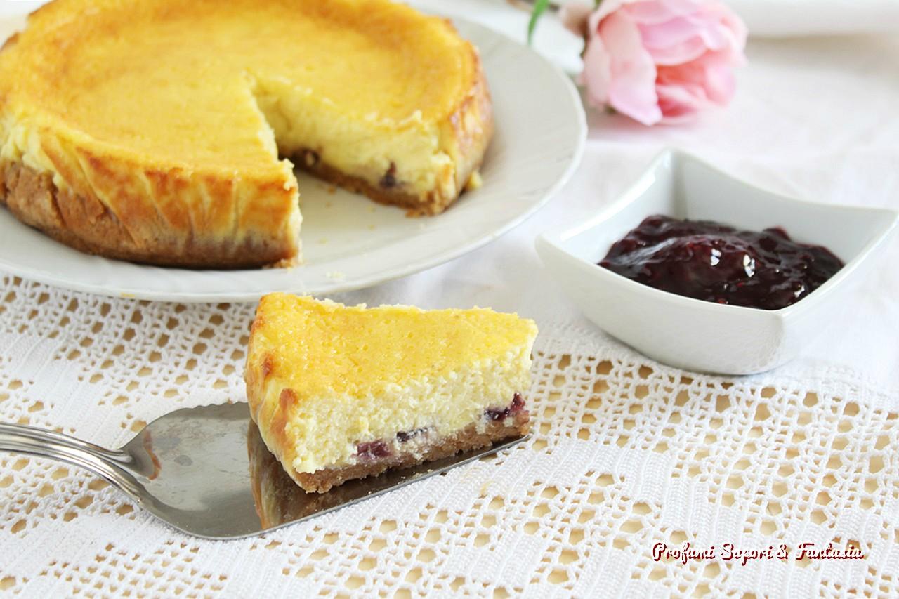 cheesecake con panna ricotta al forno