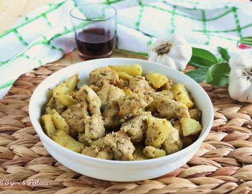 Petto di pollo con patate sabbiate al forno