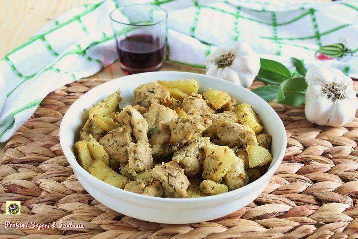 petto di pollo con patate sabbiate