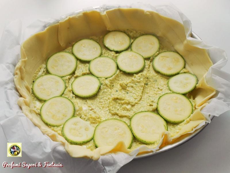 torta con formaggi zucchine e ricotta