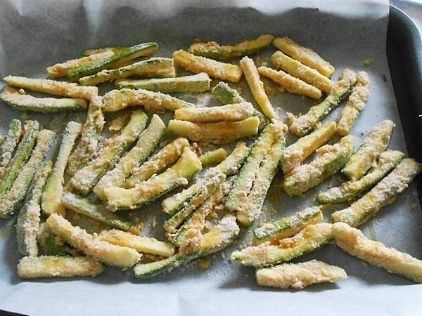 zucchine croccanti cotte l forno