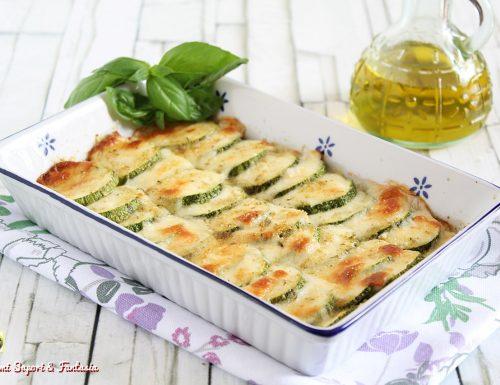 Zucchine con mozzarella gratinate