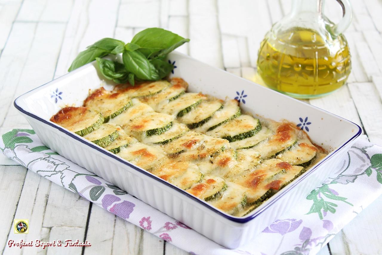 zucchine con mozzarella