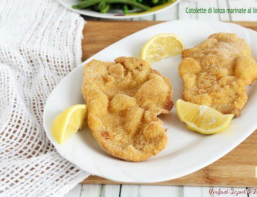 Cotolette di lonza marinate al limone