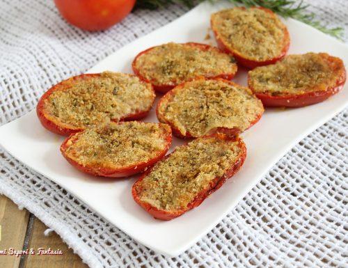 Pomodori gratinati in forno alla romagnola