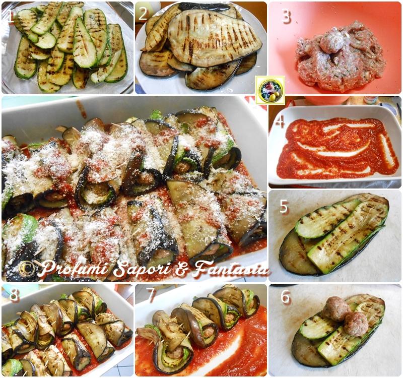 involtini con melanzane e zucchine