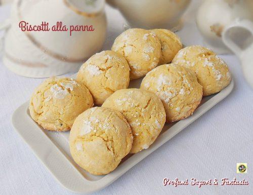 Biscotti alla panna friabili e delicati