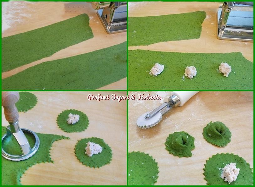 Ravioli verdi con ricotta e mascarpone