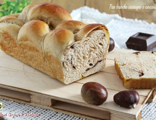 Pan brioche castagne e cioccolato