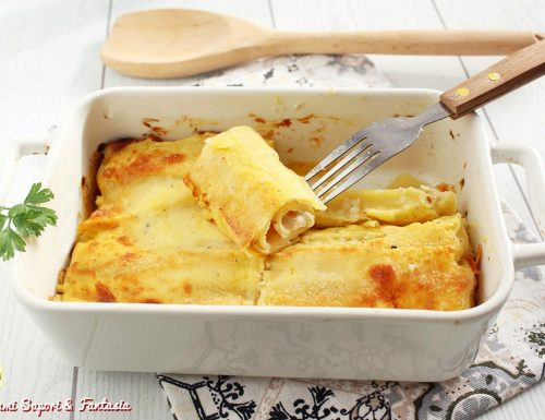 Cannelloni alla mortadella e formaggi in salsa Mornay