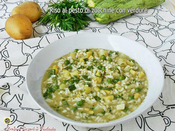 Riso al pesto di zucchine con verdure