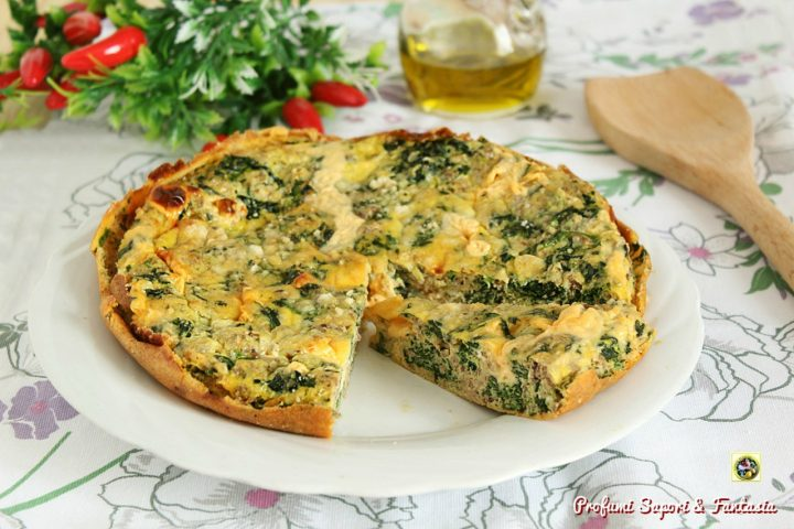 Frittata al forno con carne formaggio e spinaci