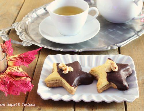 Stelle di pasta frolla alla panna e al caffè