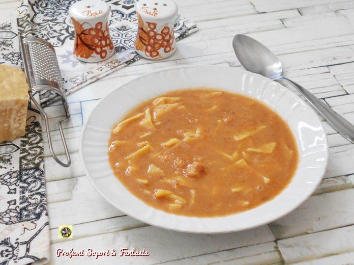minestra con prosciutto crudo ceci e fagioli