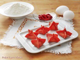 Fagottini di pasta fresca rossa