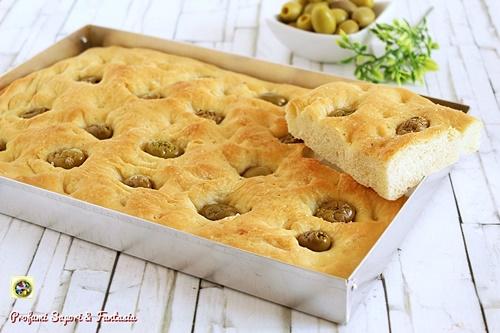focaccia genovese alle olive