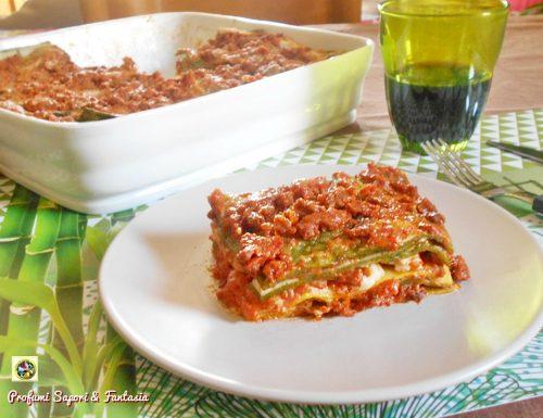 Lasagne verdi e gialle gratinate