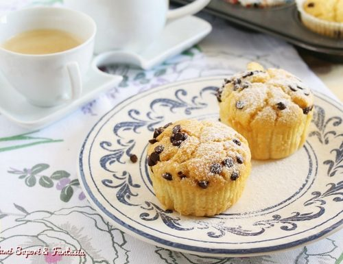 Muffin con panna robiola e cioccolato