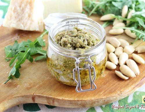Pesto con fagiolini rucola e mandorle