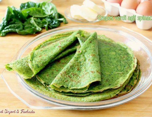 Crepes verdi agli spinaci ricetta base