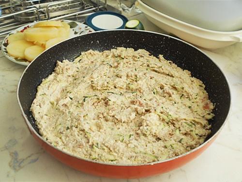 frittata di albumi carne e patate al forno