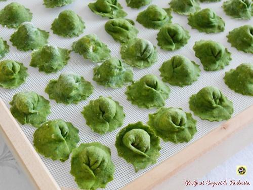 cappelletti verdi con ricotta e mascarpone
