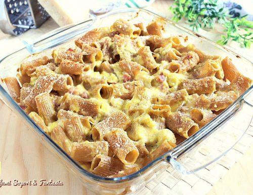 Pasta integrale al forno gratinata