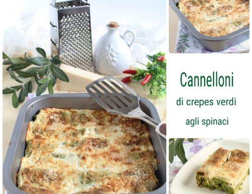 Cannelloni di crepes verdi agli spinaci