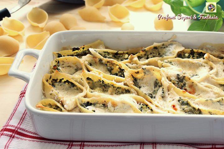 conchiglioni con spinaci