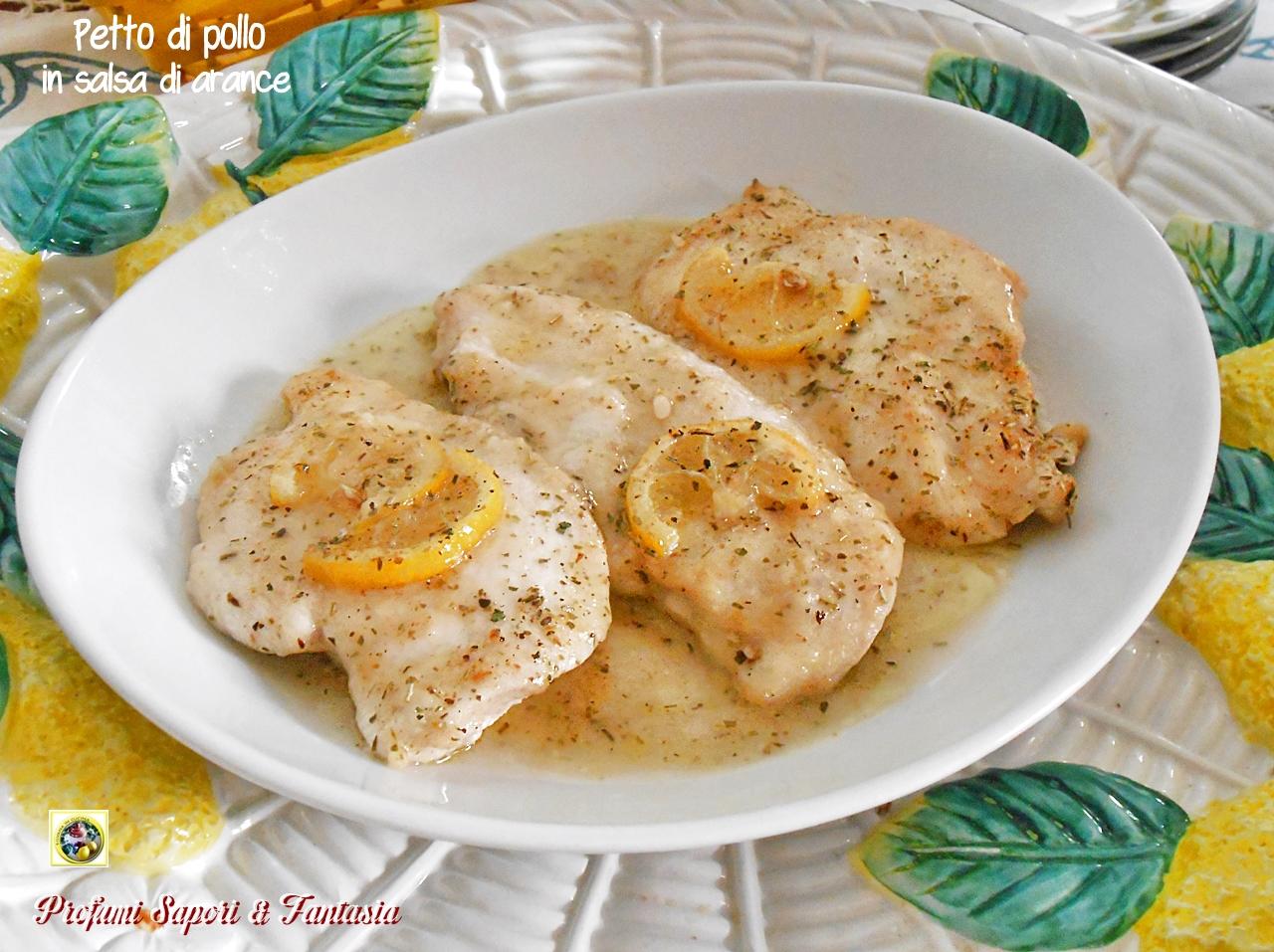 petto di pollo in salsa di arance