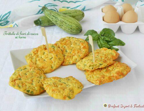 Frittelle di fiori di zucca al forno