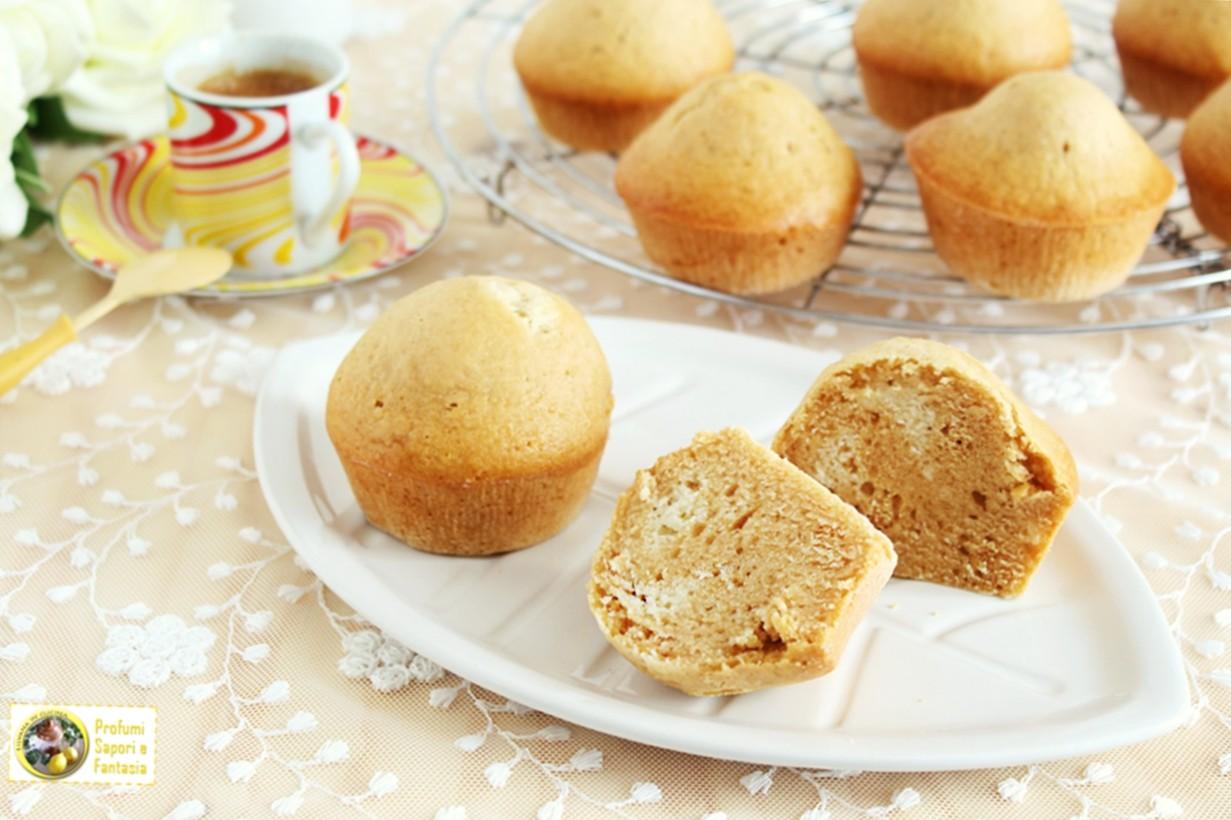 muffin con ricotta e caramello