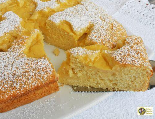 Torta golosa con ricotta panna e crema