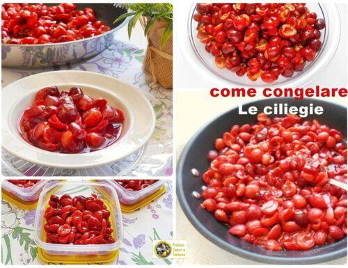 Come congelare le ciliegie per l'inverno