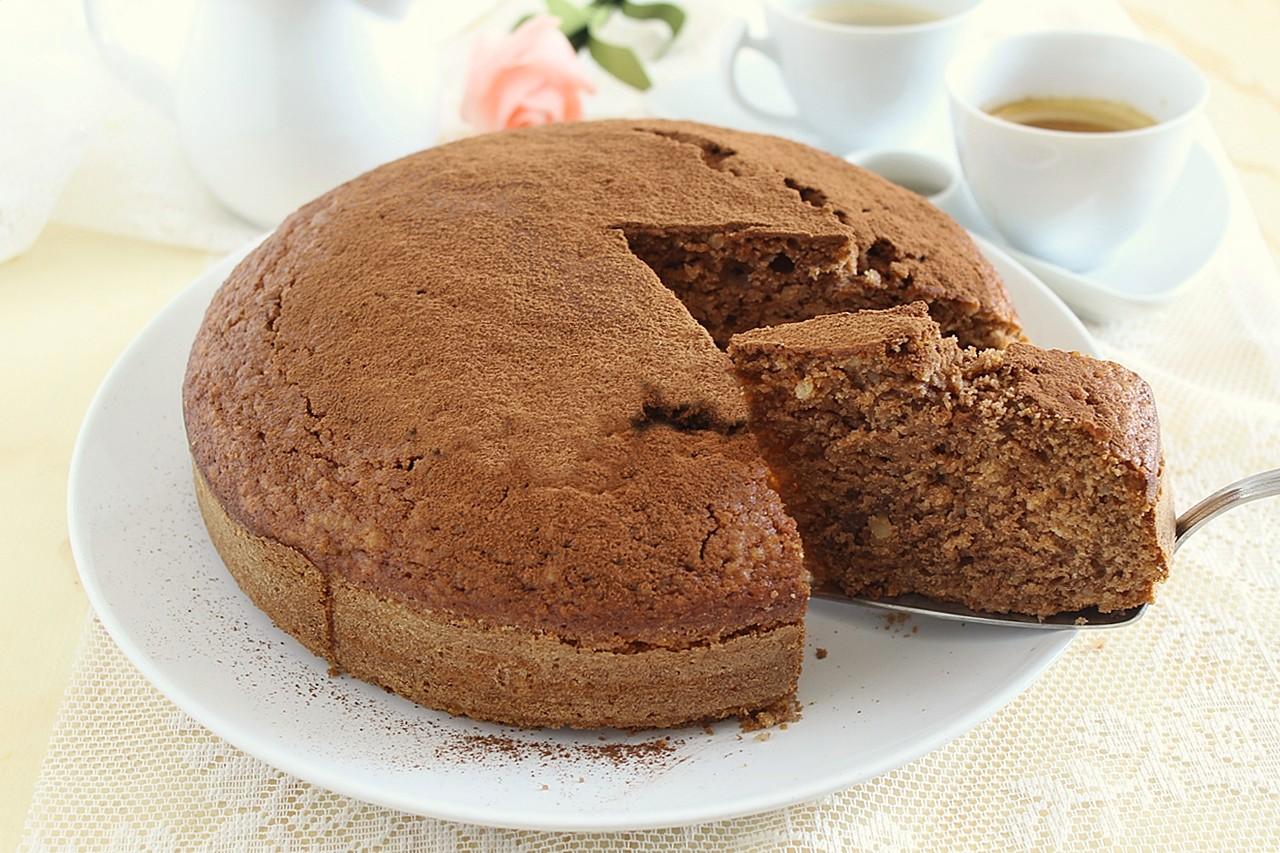 torta di ricotta mandorle e cioccolato