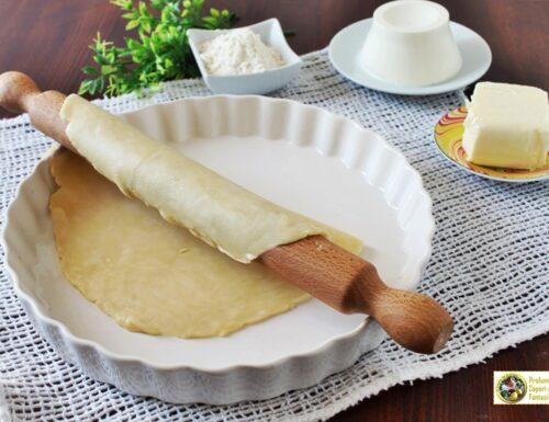 Pasta matta con burro e ricotta per dolci e salati