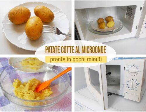 Patate cotte al microonde pronte in pochi minuti