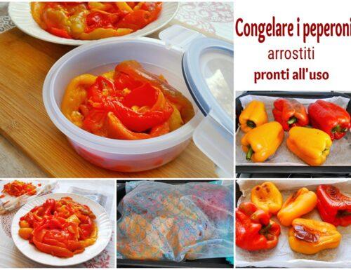 Congelare i peperoni arrostiti pronti all'uso